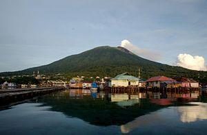Ternate - Summit of Gamalama view from Dodoku Ali
