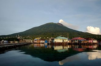 Ternate - Summit of Gamalama view from Dodoku Ali