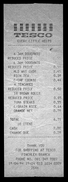 File:Tesco grocery receipt Finchley 1994.jpg