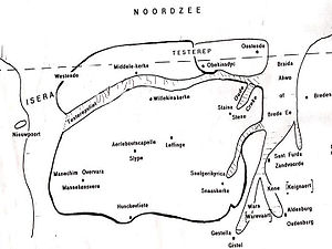 Testerep - West Flanders coastline in the Middle Ages