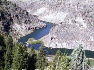 Teton River (Idaho) - Teton River in the canyons northeast of Rexburg