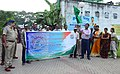 The Additional Distract Magistrate (Development), 24 Parganas (N), Shri Saikat Kumar Dutta inaugurating rally as a part of awareness campaign on Biodiversity and its linkages with livelihood organised by the DFP, Kolkata.jpg
