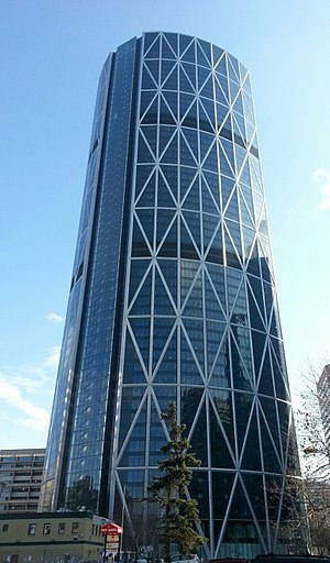 The Bow (skyscraper) - The Bow from the north