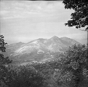 22nd Guards Brigade - View of Monte Camino during the early stages of the first assault by the British X Corps.