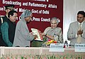 The Chief Minister, Delhi, Smt. Sheila Dikshit release a souvenir of Press Council of India and presented the first copy to the President, Dr. A.P.J. Abdul Kalam at the two day International Symposia on Media Matters.jpg