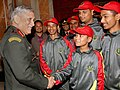 The Chief of Army Staff, General Bipin Rawat interacting with the children on a National Integration Tour from Assam and Arunachal Pradesh, in New Delhi on January 02, 2018.jpg