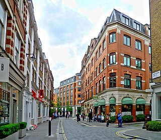 Marylebone Lane street in the City of Westminster, London