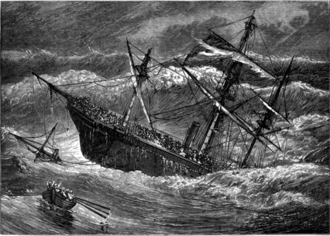 SS London (1864) - The London going down