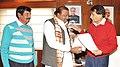 The MP (Lok Sabha), Gujarat, Shri Jaswantsinh Sumanbhai Bhabhor calling on the Union Minister for Railways, Shri Suresh Prabhakar Prabhu, in New Delhi on February 10, 2016.jpg