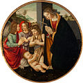 The Madonna Adoring the Christ Child with Angels and the Infant St. John the Baptist, studio of Domenico Ghirlandaio.jpg