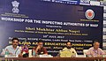 The Minister of State for Minority Affairs (Independent Charge) and Parliamentary Affairs, Shri Mukhtar Abbas Naqvi at a workshop of inspecting authorities of Maulana Azad Education Foundation, in New Delhi.jpg