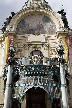 Municipal House - Image: The Municipal House (Obecni Dum), Prague 8856