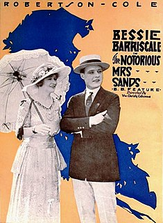 <i>The Notorious Mrs. Sands</i> 1920 film by Christy Cabanne