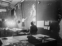 The Operations Room at Derby House in Liverpool, the headquarters of the Commander-in-Chief Western Approaches, September 1944. A25746.jpg
