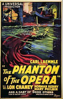 <i>The Phantom of the Opera</i> (1925 film) 1925 film by Lon Chaney, Edward Sedgwick, Rupert Julian