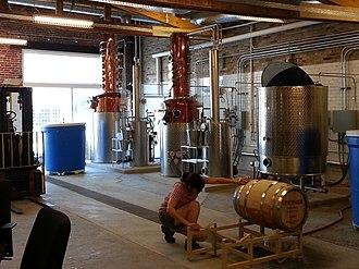 Catoctin Creek Distilling Company - The potstills and mash tun at Catoctin Creek Distillery