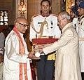 The President, Shri Pranab Mukherjee presenting the Padma Shri Award to Dr. Tripuraneni Hanuman Chowdary, at the Civil Investiture Ceremony, at Rashtrapati Bhavan, in New Delhi on April 13, 2017.jpg