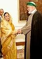 The President of the Union of Comoros, Mr. Ahmed Abdallah Mohamed Sambi called on the President, Smt. Pratibha Devisingh Patil at Rashtrapati Bhavan, in New Delhi on November 08, 2007.jpg