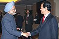 The Prime Minister, Dr. Manmohan Singh meets his Vietnamese Counterpart, Mr. Nguyen Tan Dung, on the sideline of 7th ASEM Summit, in Beijing, China on October 24, 2008.jpg