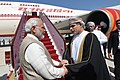 The Prime Minister, Shri Narendra Modi emplanes for New Delhi from Muscat after concluding his 4-day visit to Jordan, Palestine, UAE & Oman, on February 12, 2018 (1).jpg