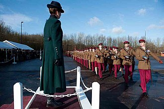 King's Royal Hussars - On parade in No2 Service Dress.