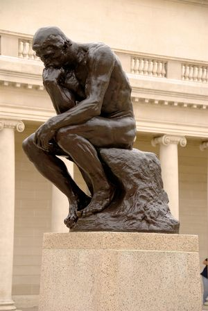 The Thinker, by Auguste Rodin, at the Californ...