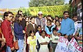 "The Union Minister for Youth Affairs and Sports Shri Sunil Dutt with the school children at a PowerPoint Presentation on ""Vision of Jawaharlal Nehru"" in New Delhi on November 14, 2004.jpg"