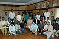The Vice President, Shri Mohd. Hamid Ansari with the 25 Students of St. Stephens College, University of Delhi, along with Principal (Revd. Valson Thampu), in New Delhi on March 06, 2009.jpg