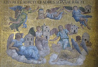 Seven churches of Asia - Mosaic in St Mark's Basilica of the seven angels