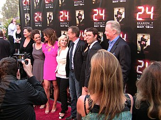 24 (TV series) - The cast of 24, from the season 7 finale screening