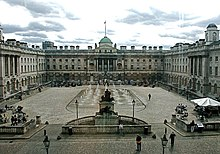 The courtyard of Somerset House, from North Wing entrance
