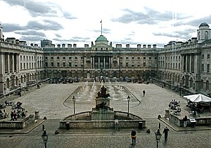 The courtyard of Somerset House, from the North Wing entrance