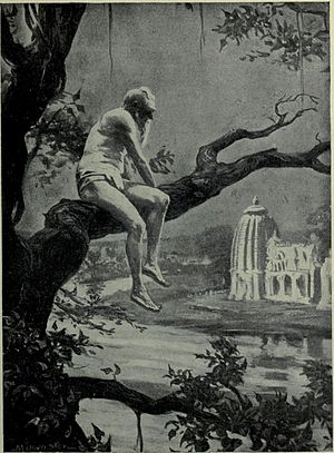 Dhanga - A 20th century artist's impression of Dhanga at the end of his reign, from Hutchinson's Story of the Nations