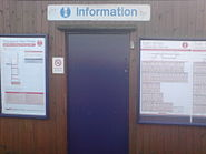 The exterior of the Harringay railway station ticket office