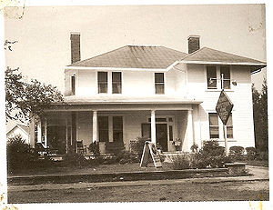 Grover, North Carolina - The famed Hambright (Hambrecht) family dynasty crown jewel mansion that welcomed people to Grover for 30 years from 1948 to 1978 is now The Inn of the Patriots, since 2008