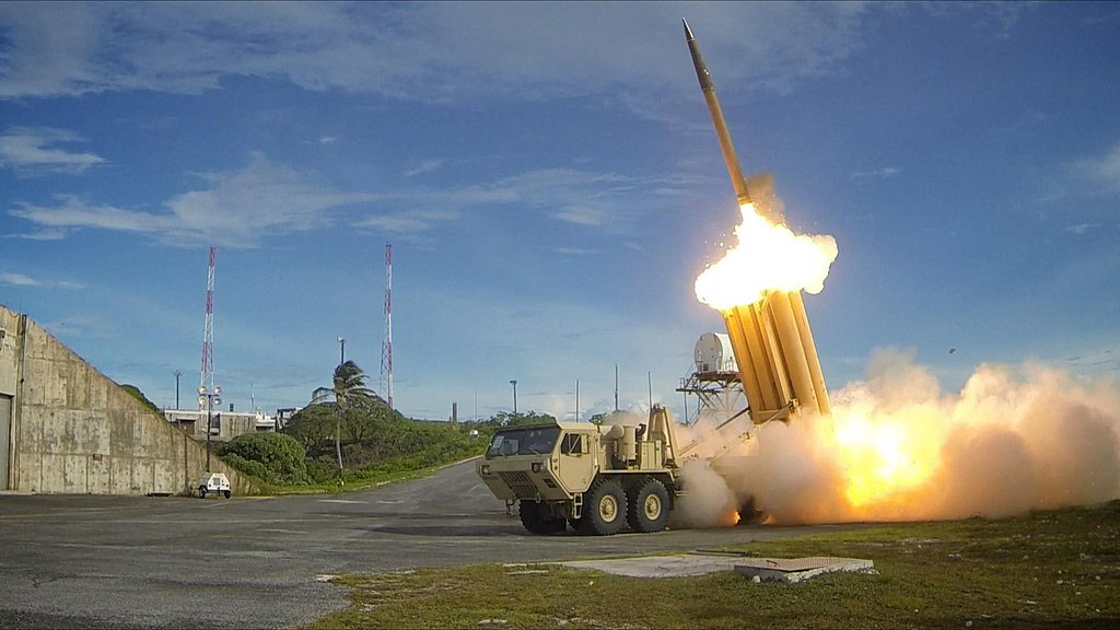 The first of two Terminal High Altitude Area Defense (THAAD) interceptors is launched during a successful intercept test - US Army.jpg