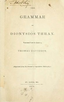 The grammar of Dionysios Thrax.djvu