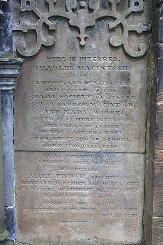 Charles Macintosh - Image: The grave of Charles Macintosh, Glasgow Cathedral