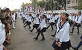 The marching contingent from Sea Cadet Corps performing a Horn Pipe Dance in 2015.jpg