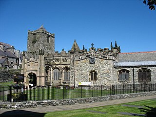 Holyhead town in the county of Anglesey in Wales