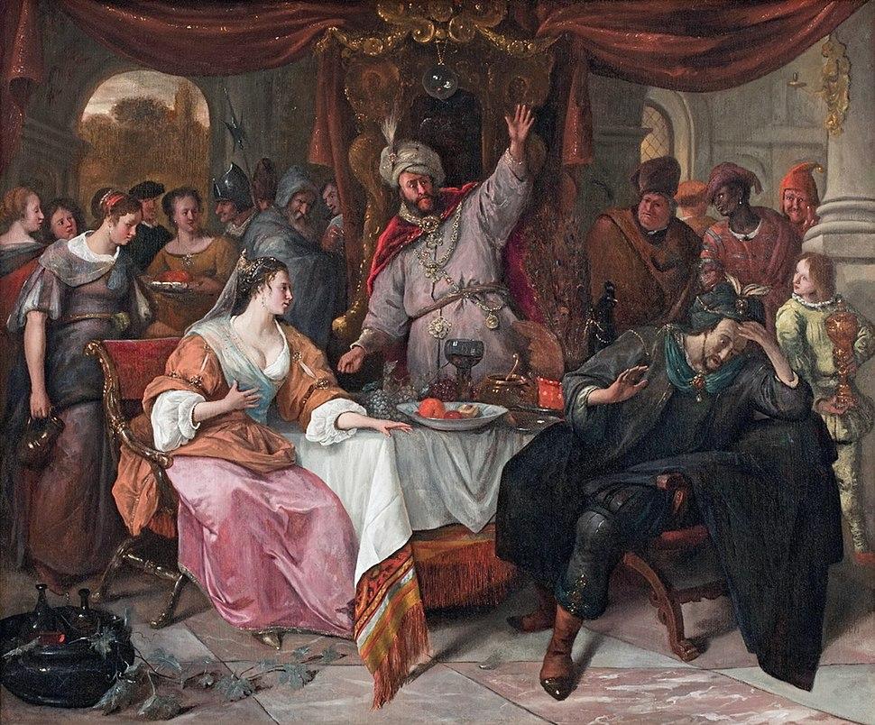 The wrath of Ahasuerus, by Jan Steen