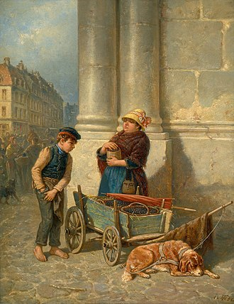Theodor Hosemann - The Kirsch Seller (1856)