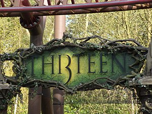 Thirteen (roller coaster) - Entrance to TH13TEEN