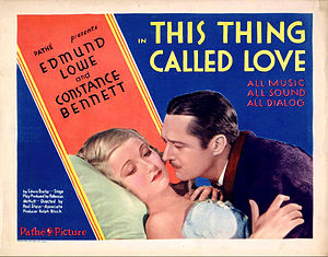 This Thing Called Love (1929 film) - Image: This Thing Called Love 1929
