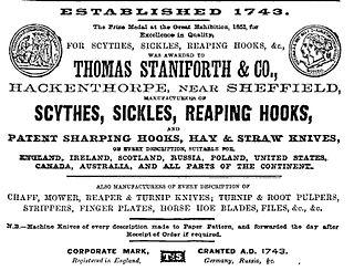 Thomas Staniforth & Co British tool manufacturer