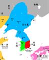 Three Kingdoms of Korea Map-zh.png