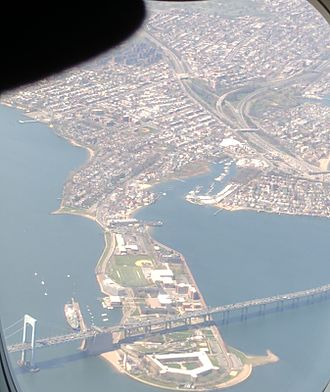 Throggs Neck - Aerial view of Throggs Neck