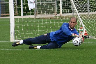 Tim Howard - Howard makes a save during training for the U.S. national team, 2006