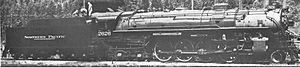 4-8-4 - Roller-bearing equipped Timken 1111 (Northern Pacific 2626)