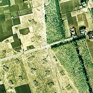Toho crossroads case site aerial photograph, in FY1974.jpg